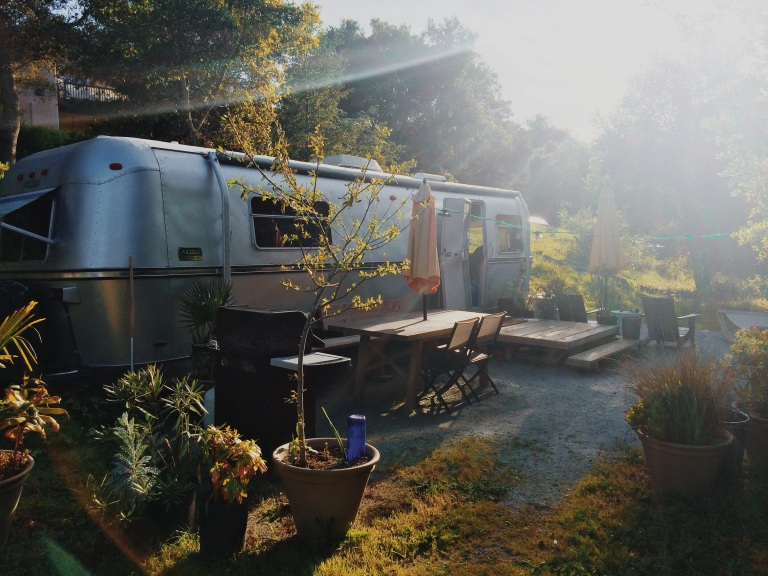 """A picture of our trailer that we """"glamped"""" in"""
