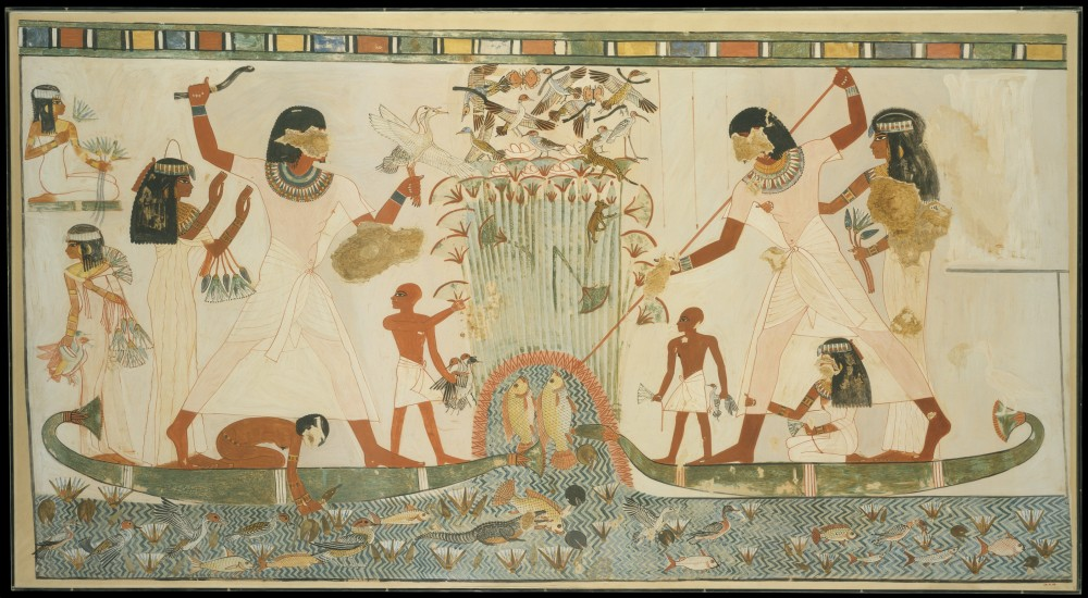 Marsh-Scene-Tomb-of-Menna-1924-facsimile-of-original-from-ca.-1400-1352-BC-Met-Museum